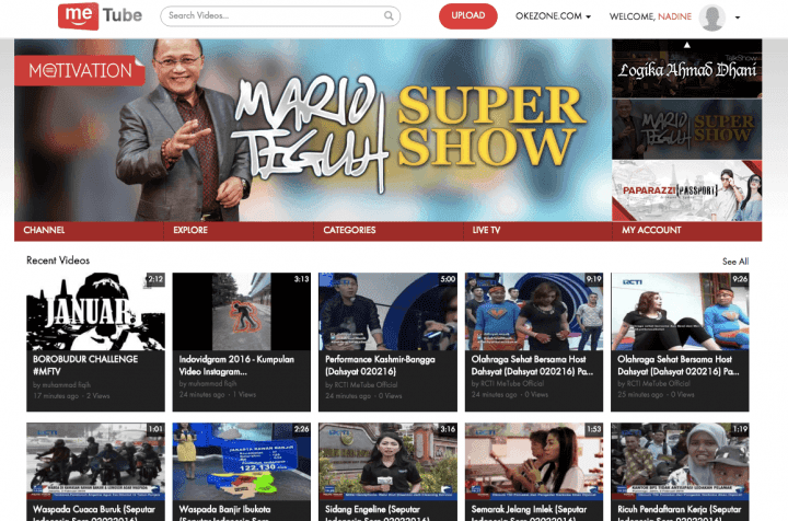 Indonesian company launches YouTube clone, MeTube