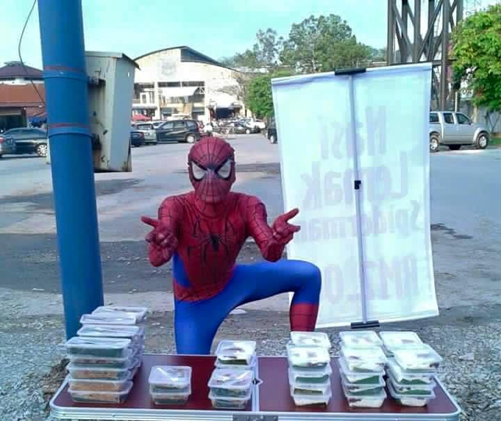 Nasi lemak-selling Spider-Man is finally caught by authorities!