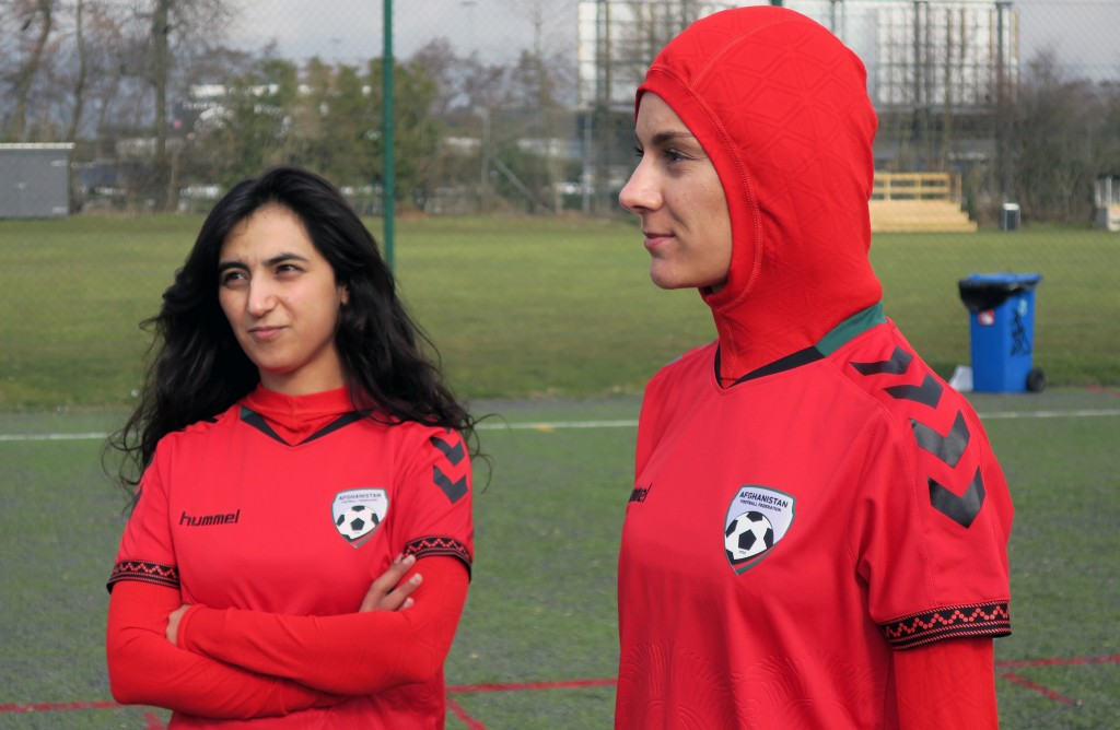 First ever jersey with built-in hijab for Afghan sports women