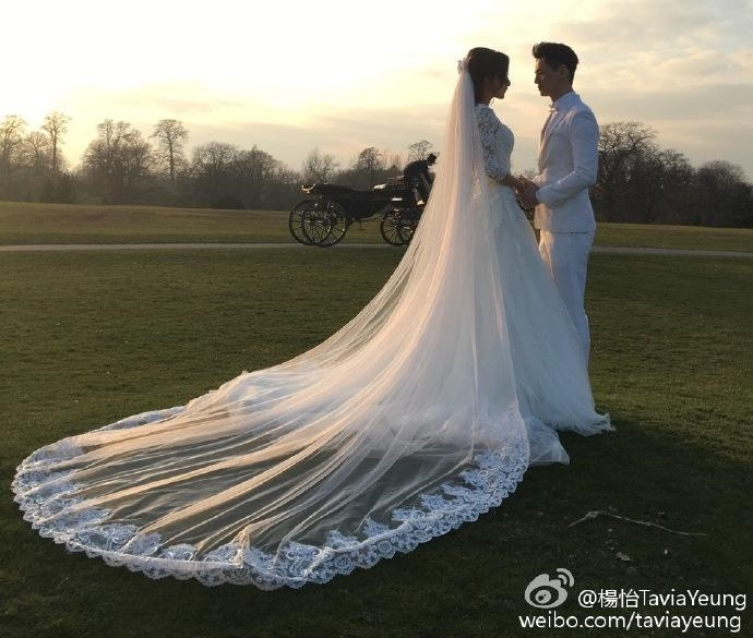 Tavia Yeung shares wedding photo with fans