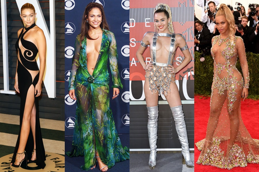 Celeb's most revealing and super sexy red carpet looks of all time!