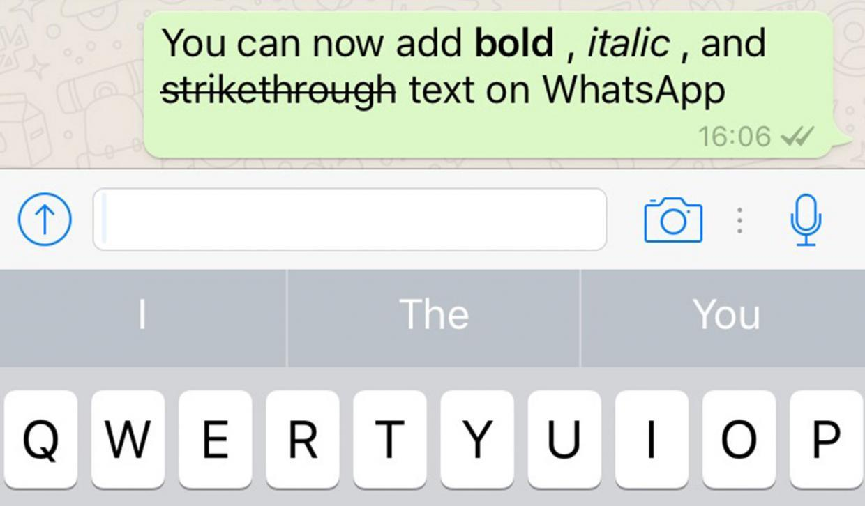 Stress your point in WhatsApp with new bold, italics and strikethrough format