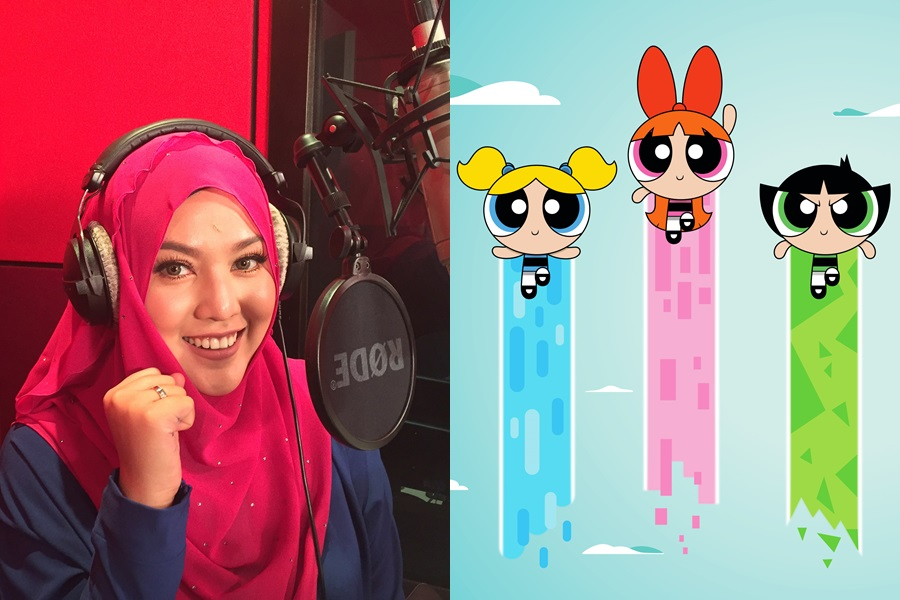 "Shila Amzah sings the Malay and Mandarin version of ""Powerpuff Girls"" theme"