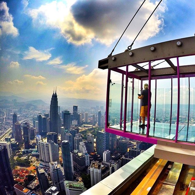 Get a bird's-eye view at KL Tower with this new scary attraction!