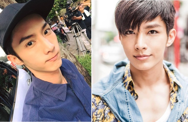 Aaron Yan photographed on a stroll with Aben-lookalike
