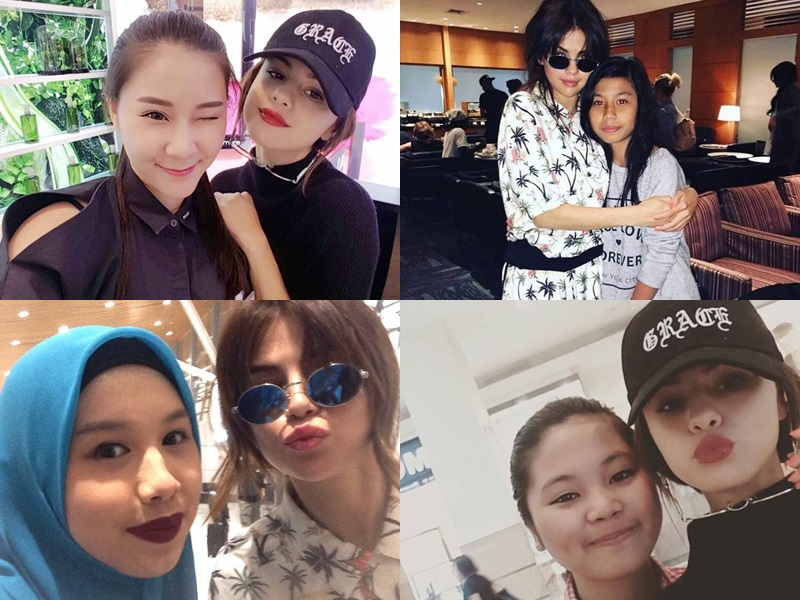 Selena Gomez takes selfies with Malaysian fans