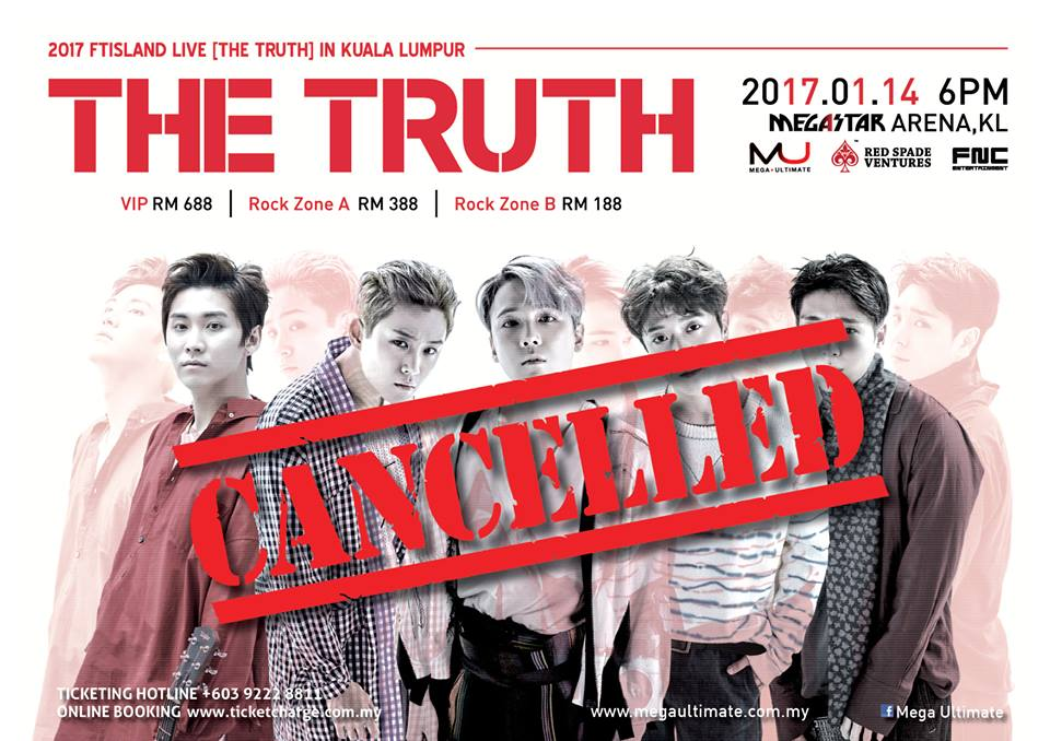 Update: FT Island's concert in Malaysia cancelled