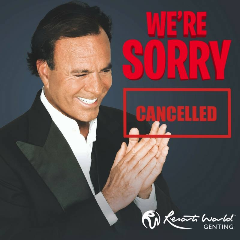Update: Spanish singer Julio Iglesias cancels show in Malaysia