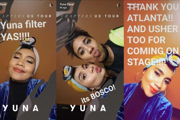 Yuna gets her very own SnapChat filter