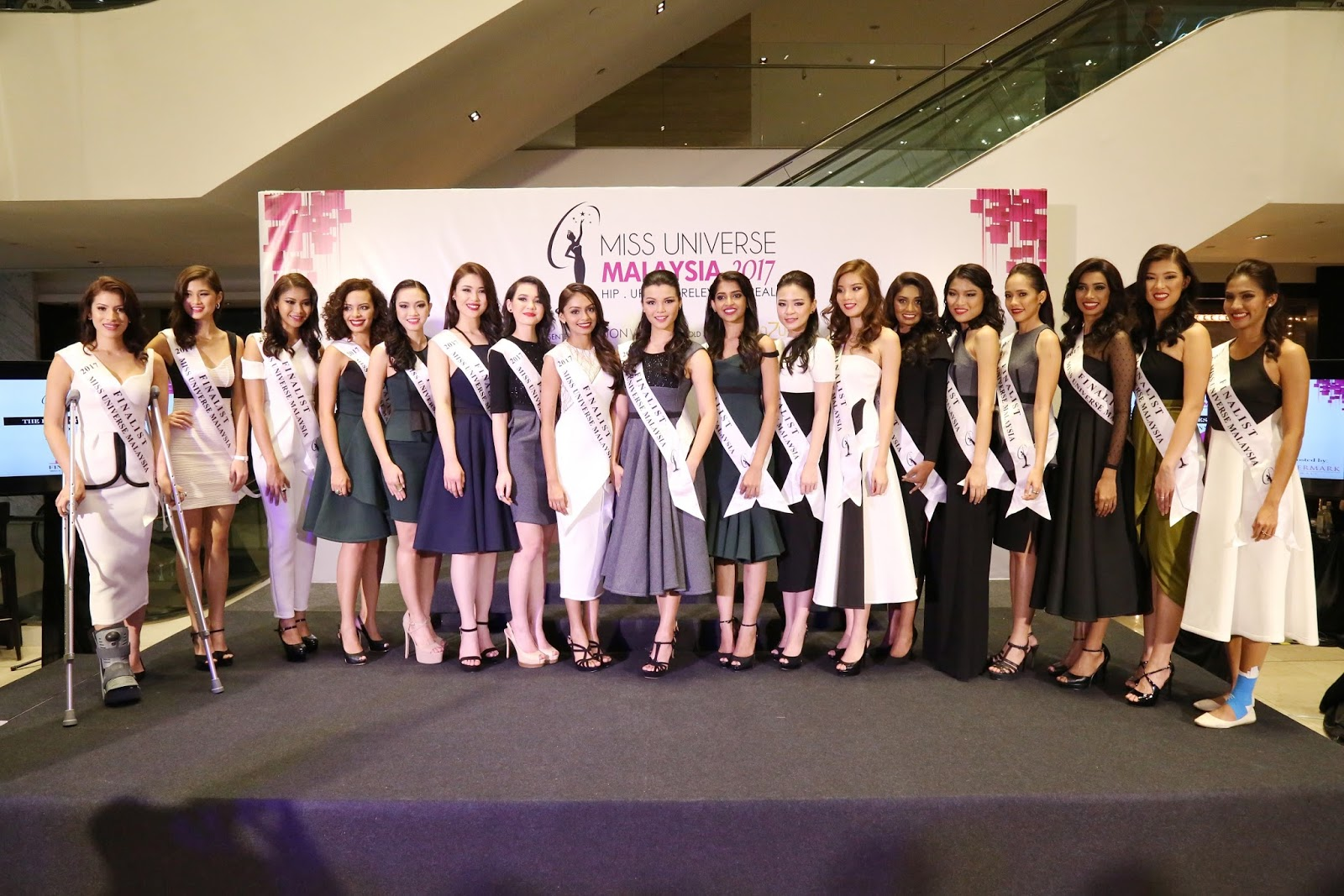 These are the Top 18 finalists of Miss Universe Malaysia 2017