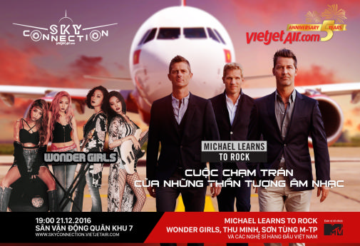 Vietjet to fly in Michael Learns to Rock and Wonder Girls to Vietnam