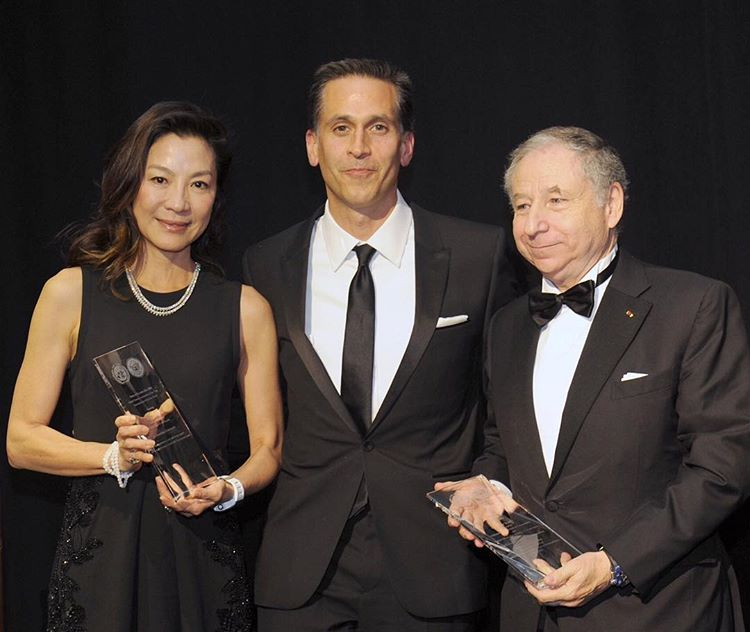 Michelle Yeoh and Jean Todt receive Humanitarian award