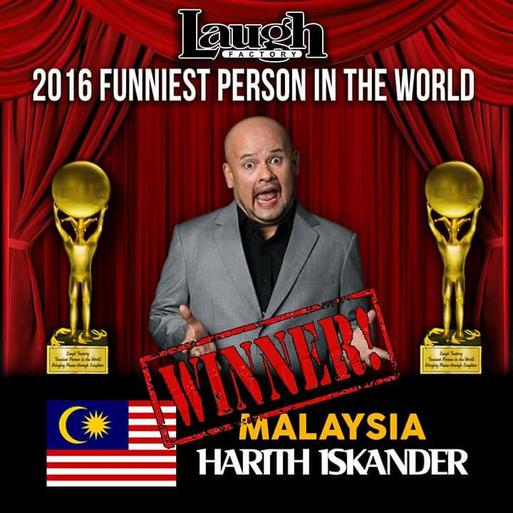 Harith Iskander wins Funniest Person in the World 2016