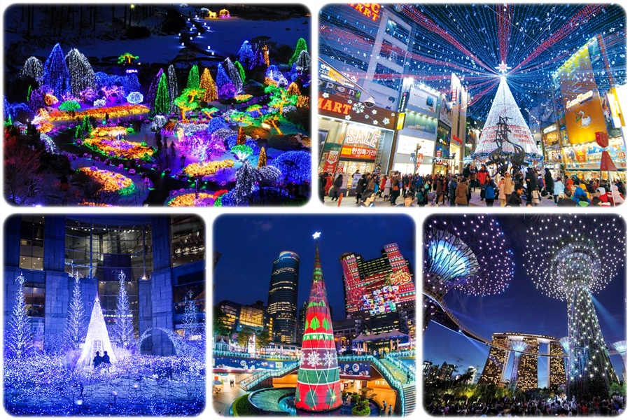 Huge Christmas celebrations in Asia
