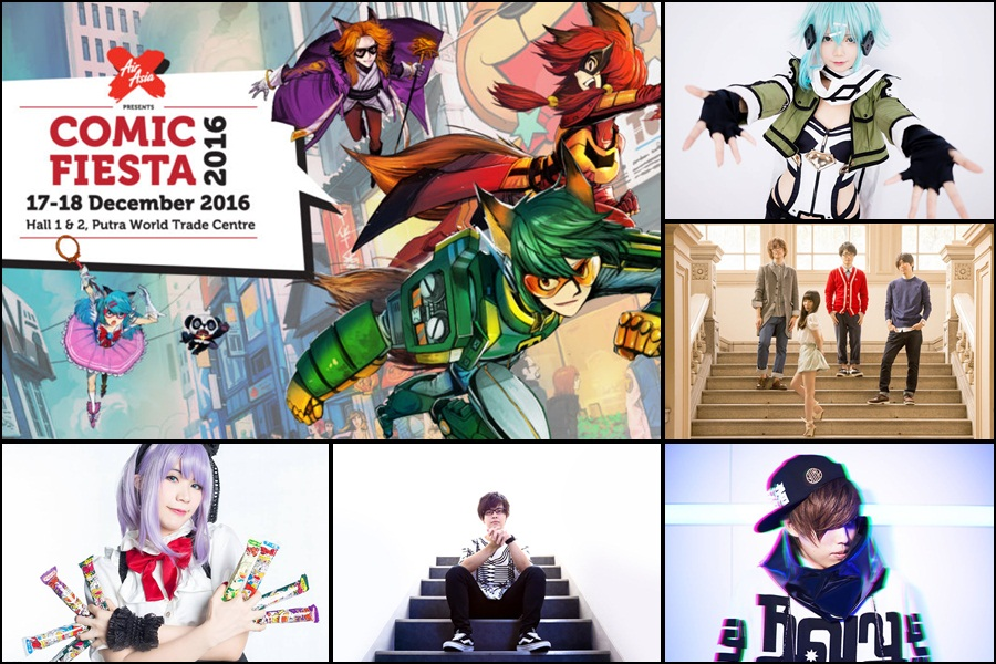 Comic Fiesta presents famous singers from Japan