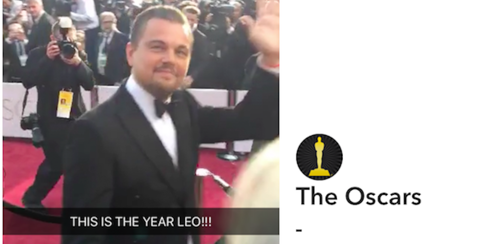 snapchat used the oscars to launch its web player finally a way to view snaps on desktop