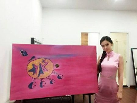 Netizens ridicule Angelababy's painting for charity
