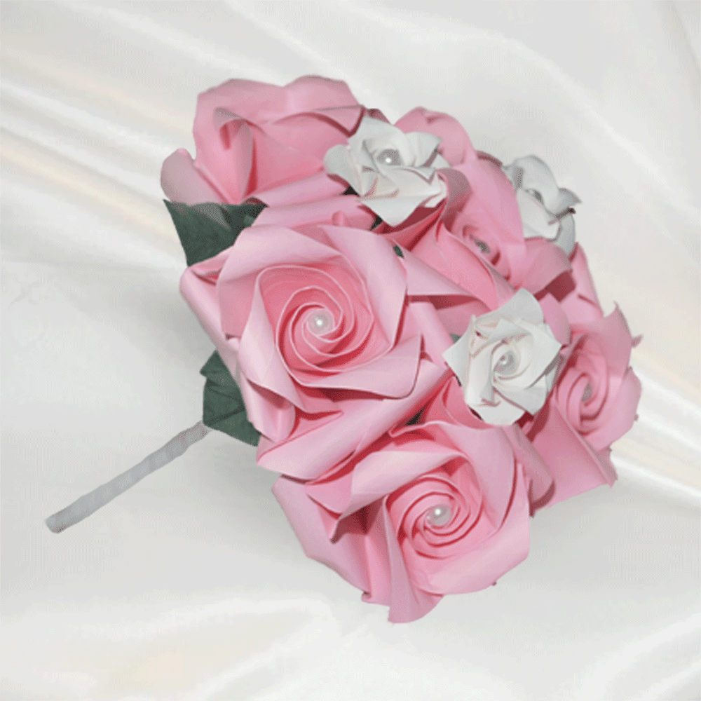 flowergirl pink pearl delight posy bouquet 1 large 52082 zoom