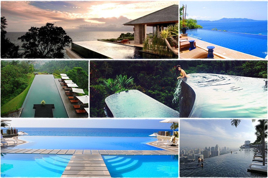 Gorgeous infinity pools in Southeast Asia