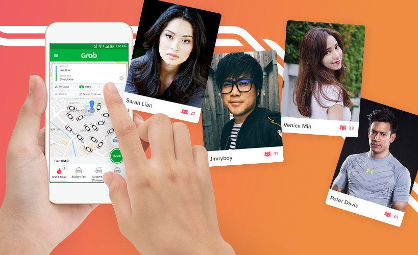 Share a ride with your favourite personalities via Grab