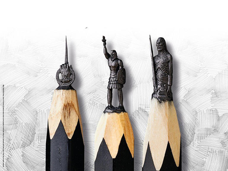 """Exhibition of tiny """"Game of Thrones"""" pencil sculptures in Singapore"""