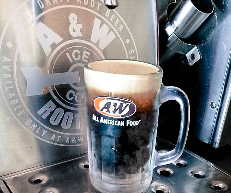 """A&W root beer is now known as just """"RB"""""""
