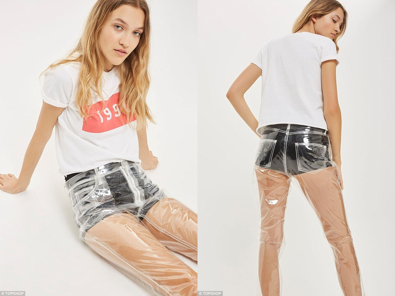 The internet is baffled with Topshop's clear plastic jeans