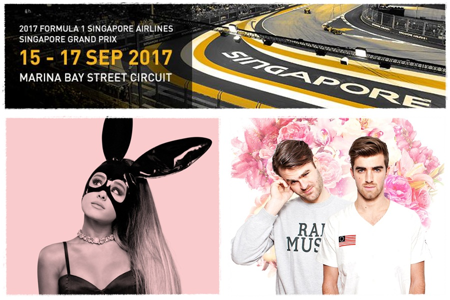 Ariana Grande, The Chainsmokers and more announced for Singapore GP