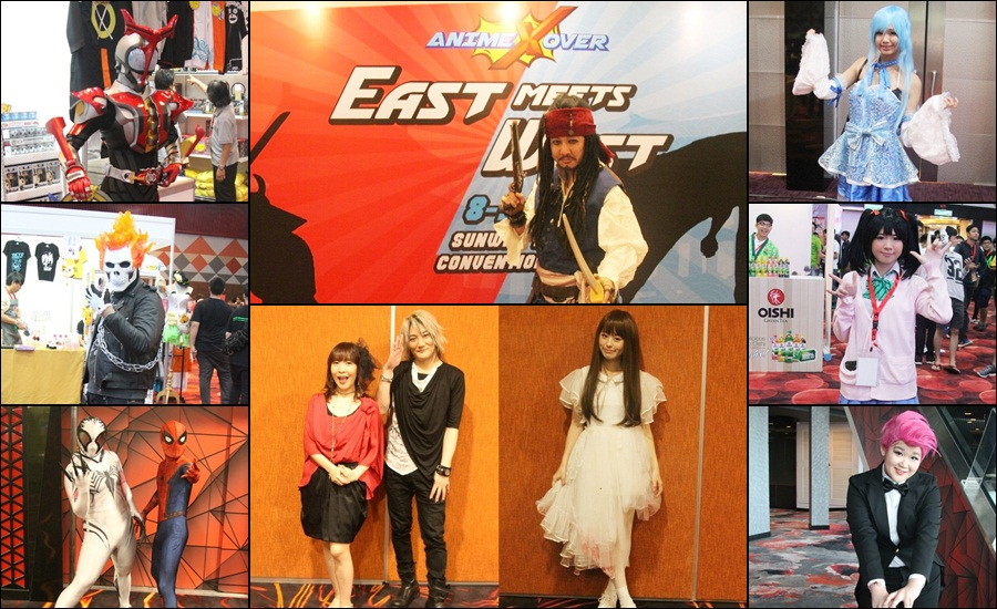 See the colourful characters at AnimeXover!