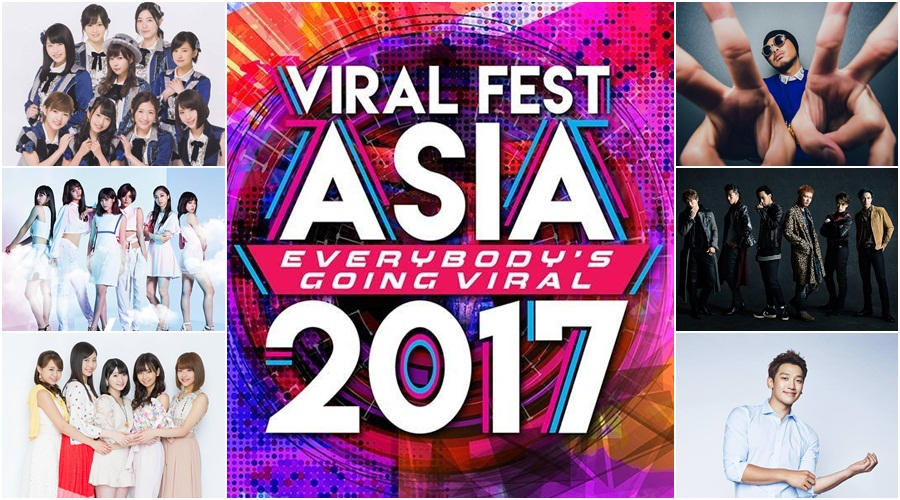 AKB48, Exile the Second and Rain to perform at Viral Fest Asia 2017