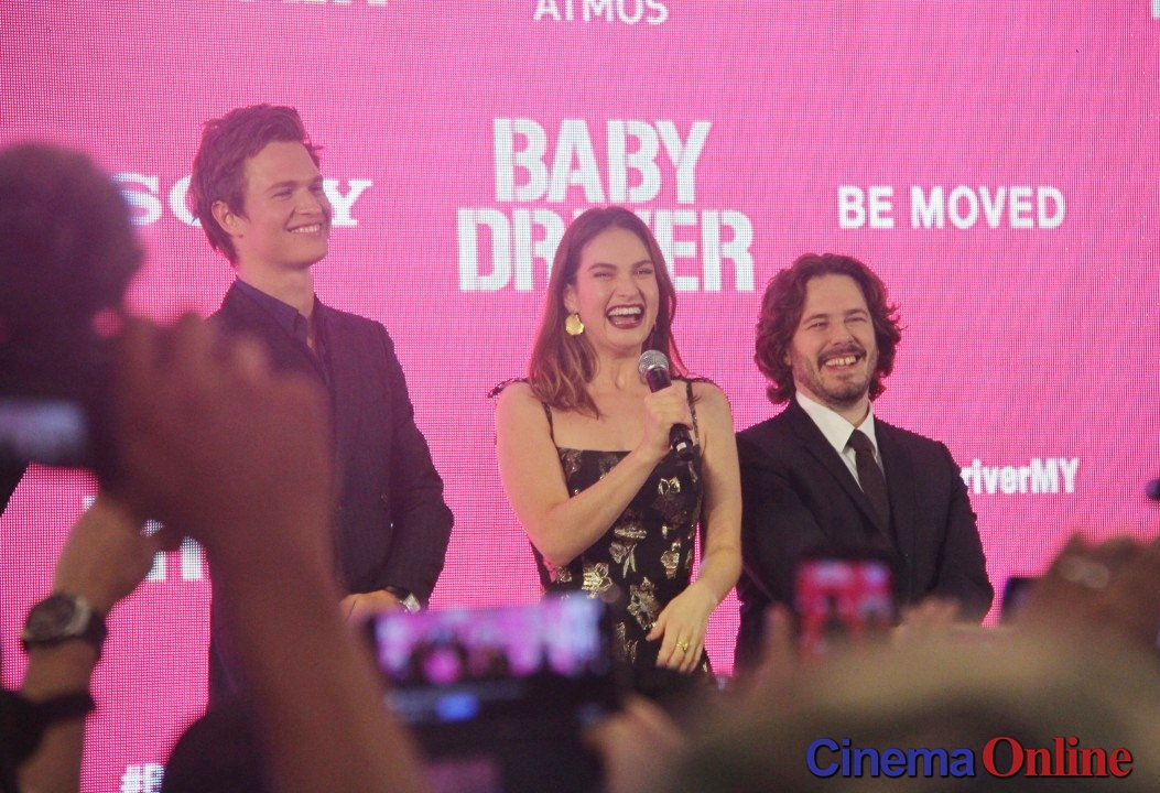 """Stars of """"Baby Driver"""" meet fans at KL's pink carpet event"""