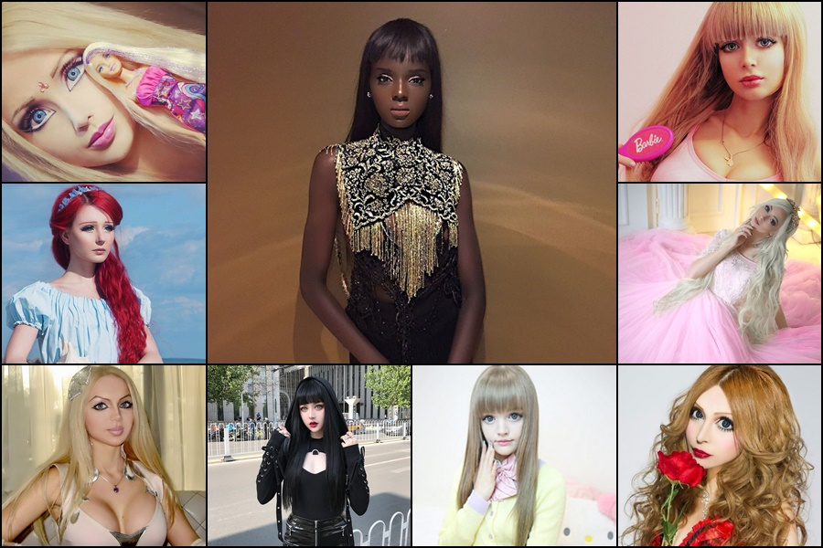 Real-life Barbie, Duckie Thot and 9 other living dolls