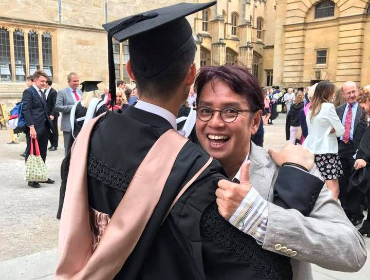 Alan Tam's son graduated from Oxford