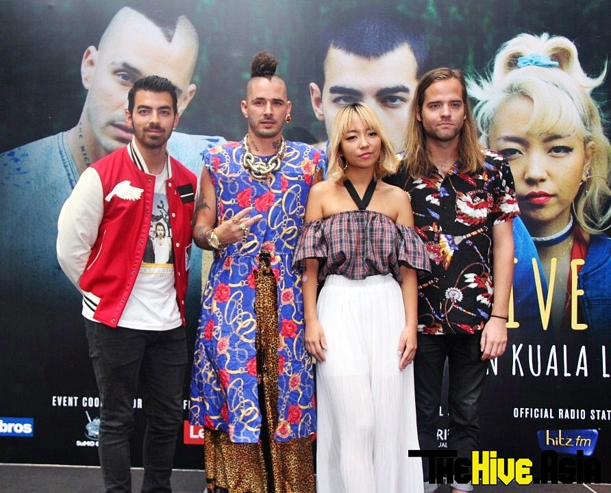 DNCE brings the music to the Malaysian dance floor