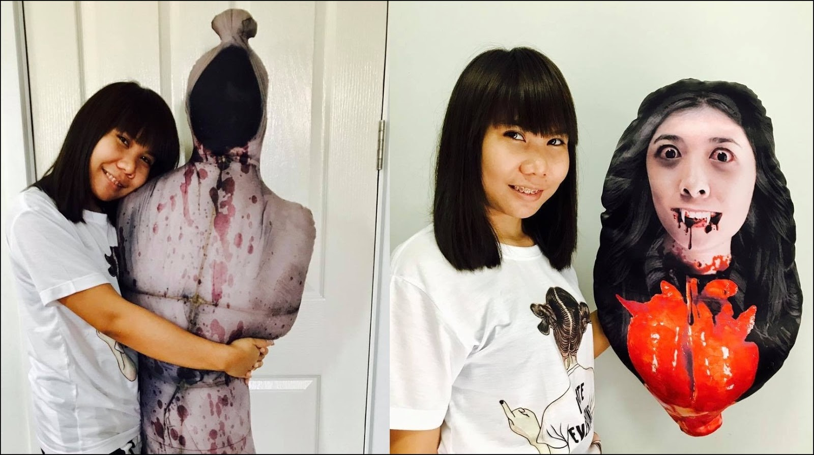 Would you sleep with these horrifying pillows?
