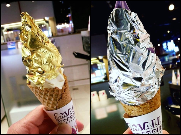 Pamper your taste buds with this luxurious 24K gold leaf ice-cream