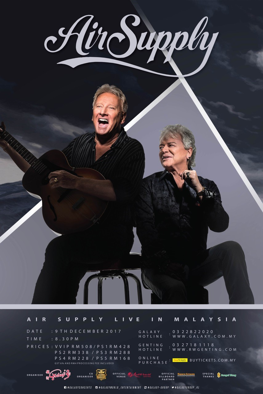 air supply malaysia concert poster