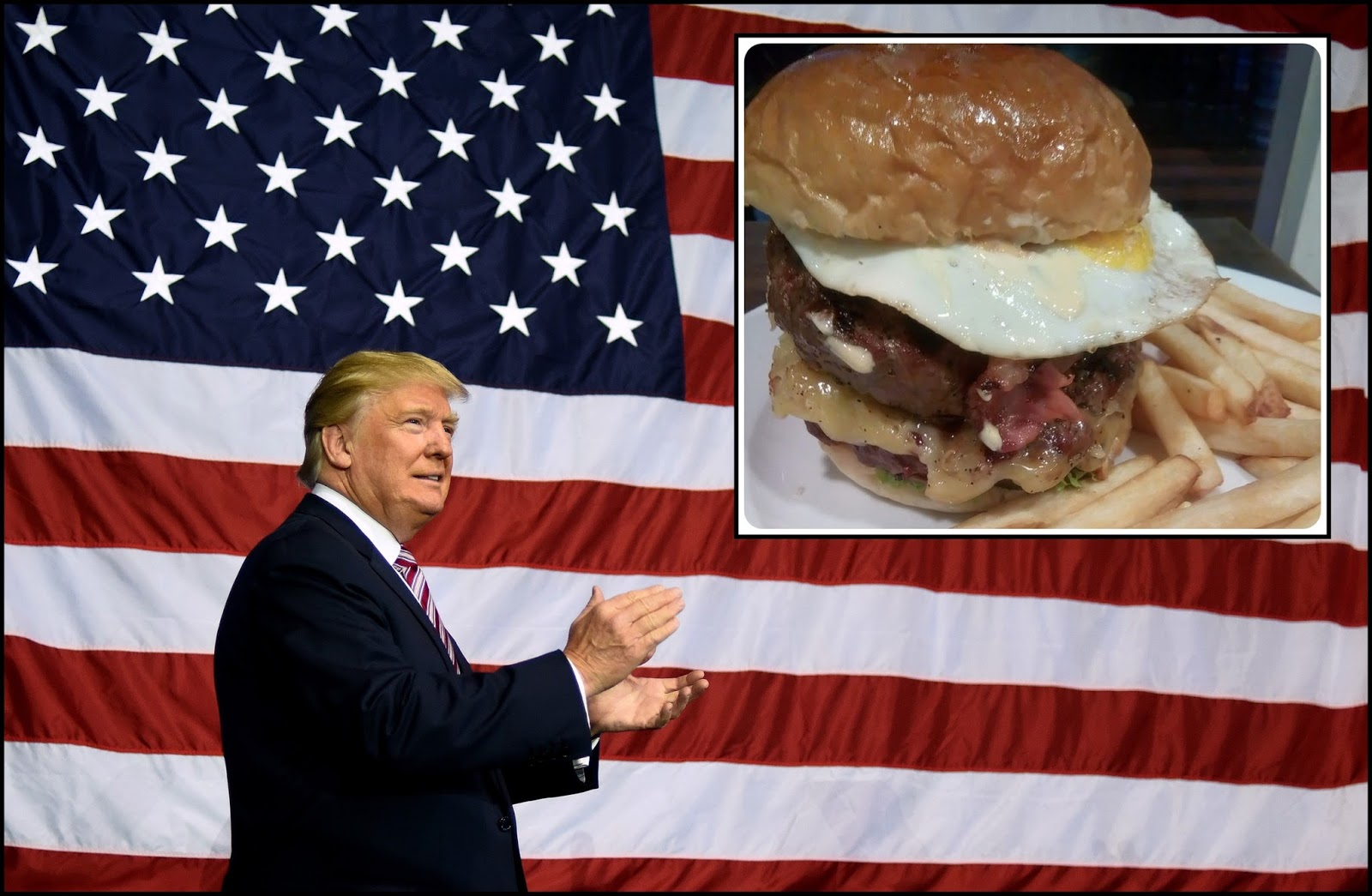 Donald Trump inspired burger is available in Manila!