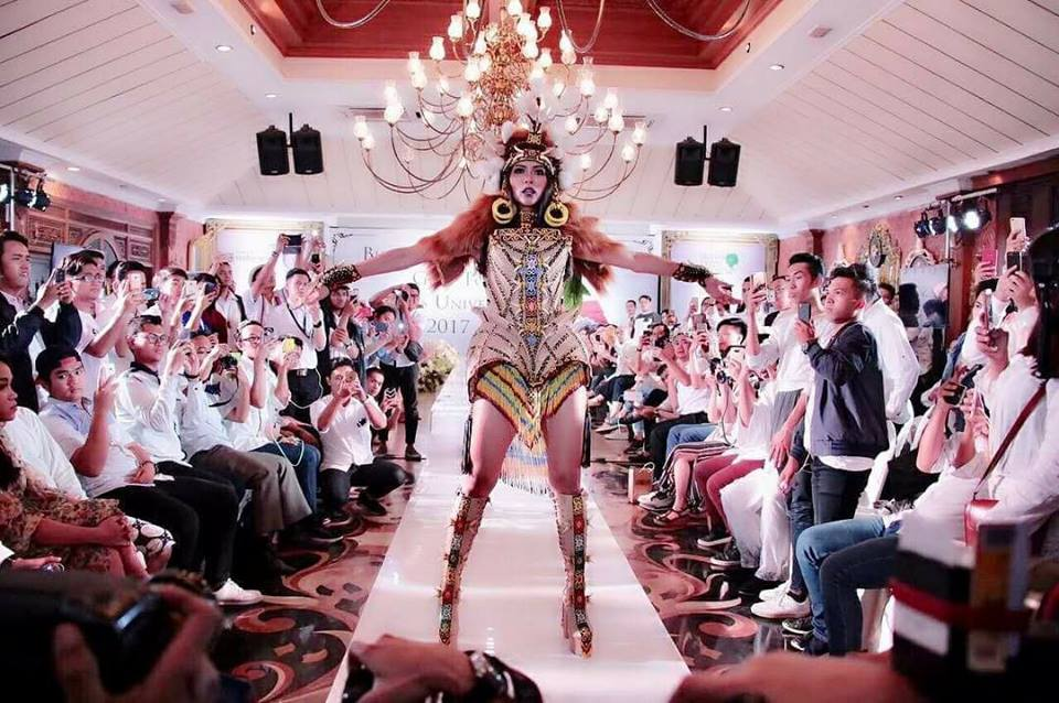 Miss Universe Indonesia's national costume inspired by orang-utan