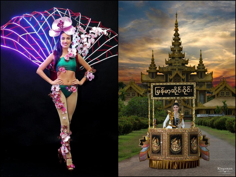Singapore and Myanmar reveal national costumes for Miss Universe 2017
