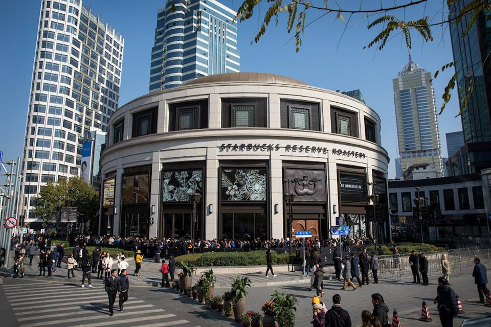 Shanghai is the home for the world's biggest Starbucks store