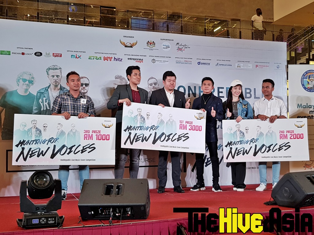 """""""Hunting for New Voices"""" winners get to catch OneRepublic live in KL!"""