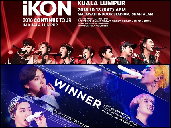 Two zones at iKON and WINNER's KL concerts are fully sold out!