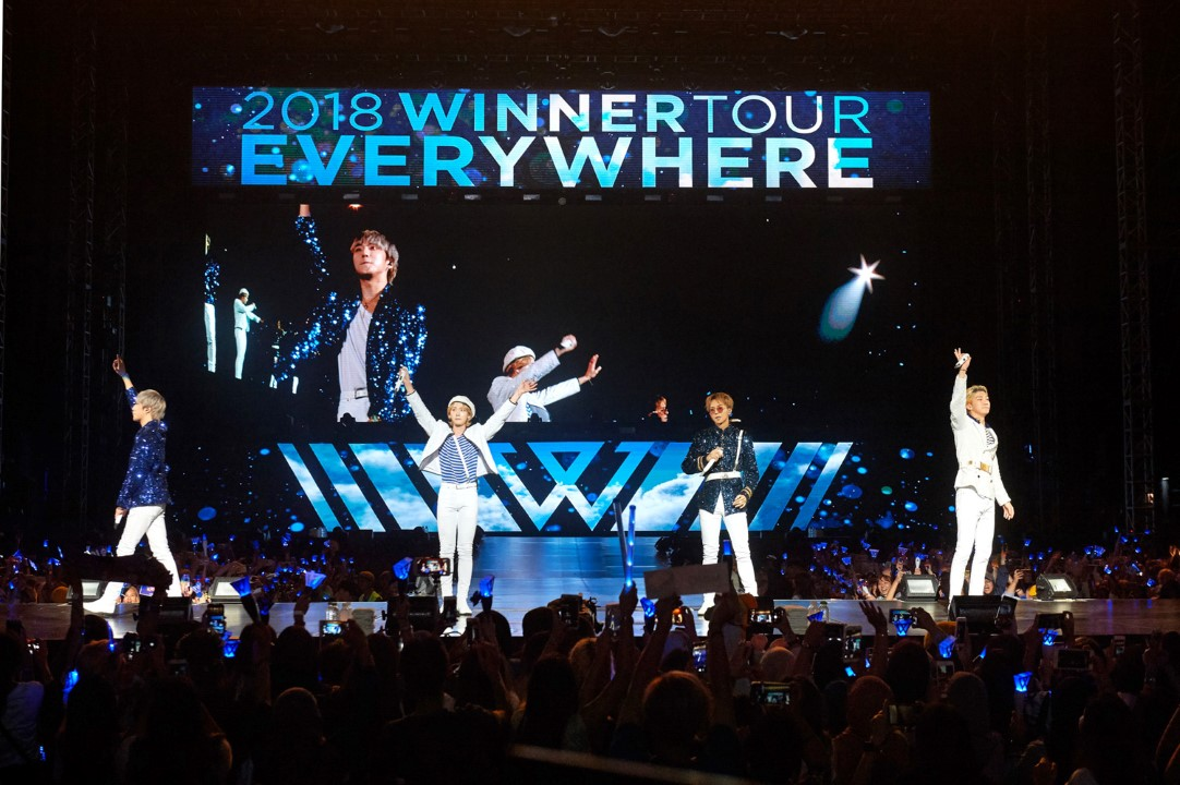 """WINNER has a """"Really Really"""" good time at first concert in KL"""