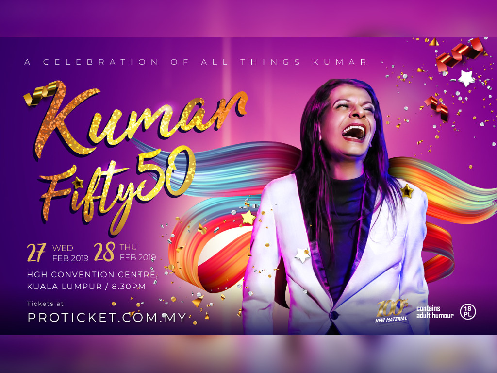 """Kumar is taking his """"Kumar Fifty50"""" tour all over Malaysia"""