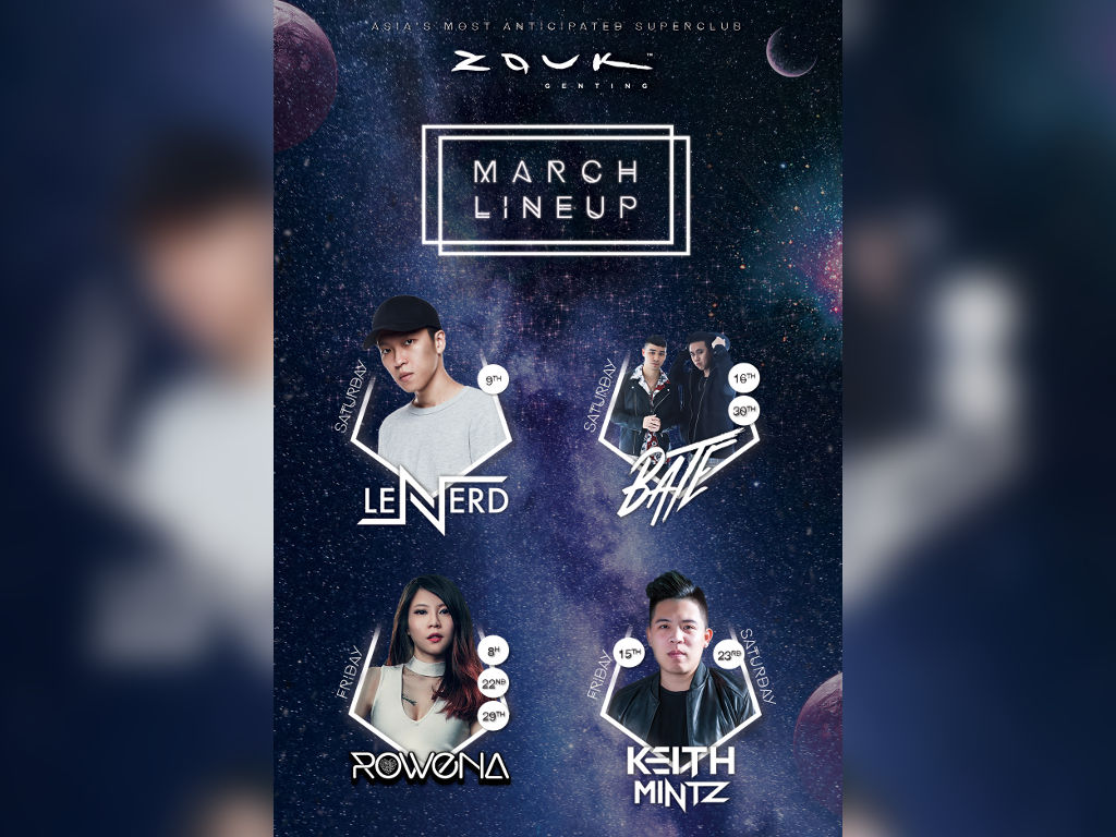 Party your weekends away with these Djs at Zouk Genting