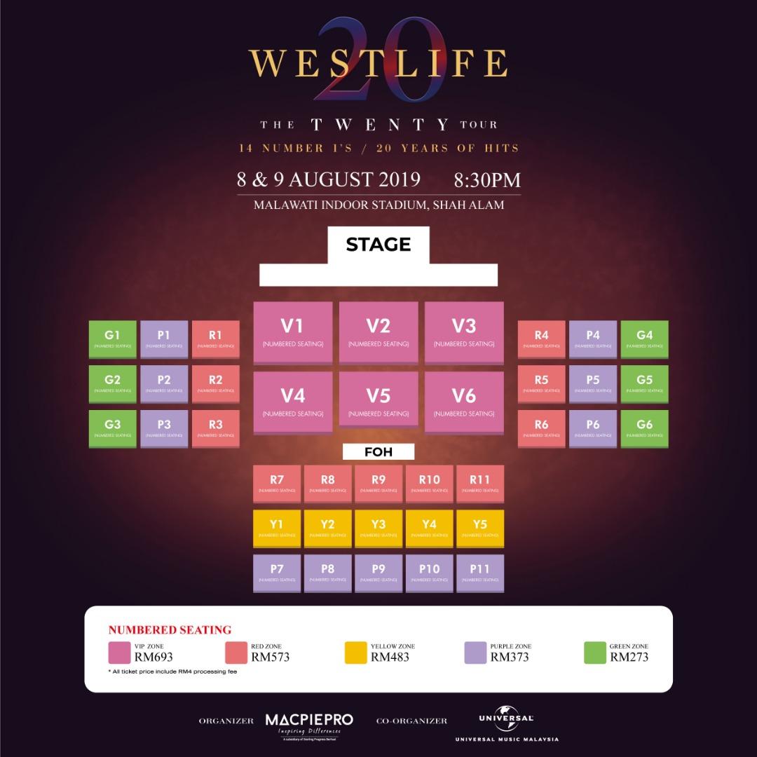 Westlife2BSeating2Bplan