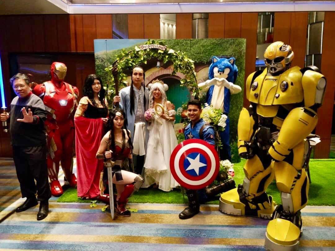 Movie fans tie the knot in cosplay-themed wedding