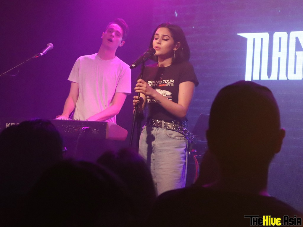 Maggie Lindemann performed at the opening of the new The Bee