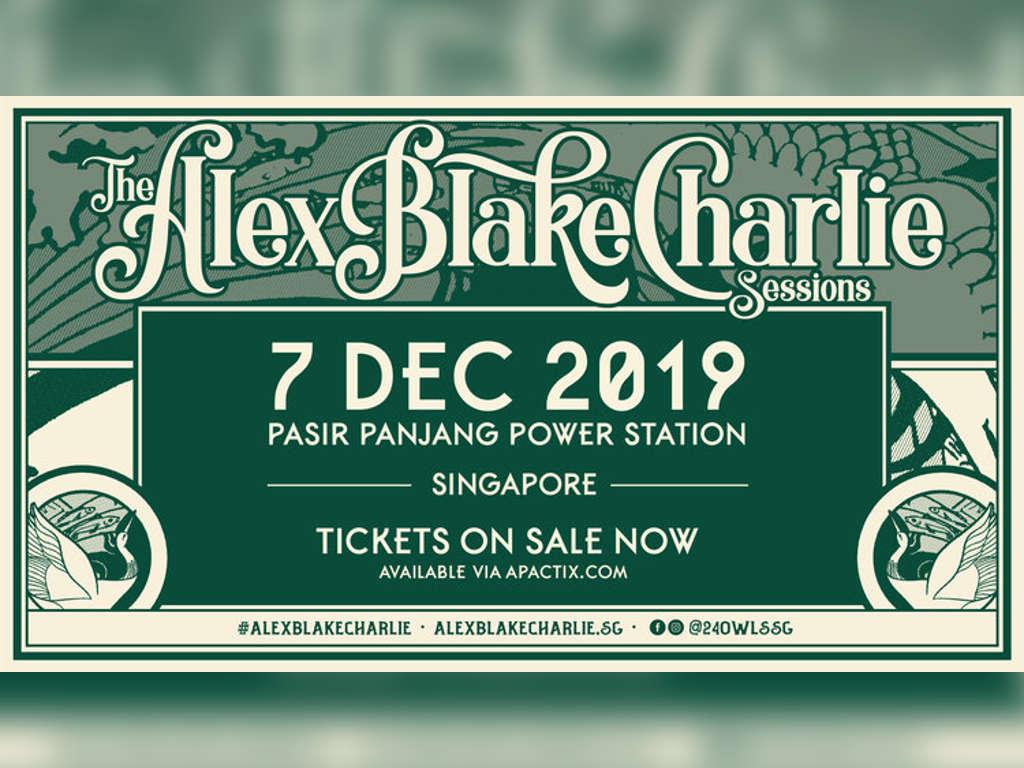 Singapore's inaugural The Alex Blake Charlie Sessions kicks off next week